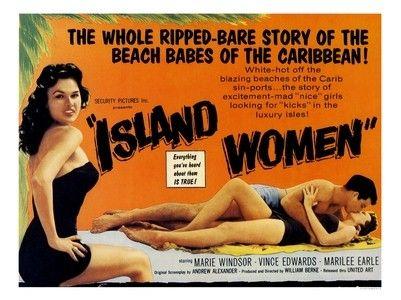 ... Store Home > AP2223 - Island Women, B-Movie Poster (30x40cm Art Print