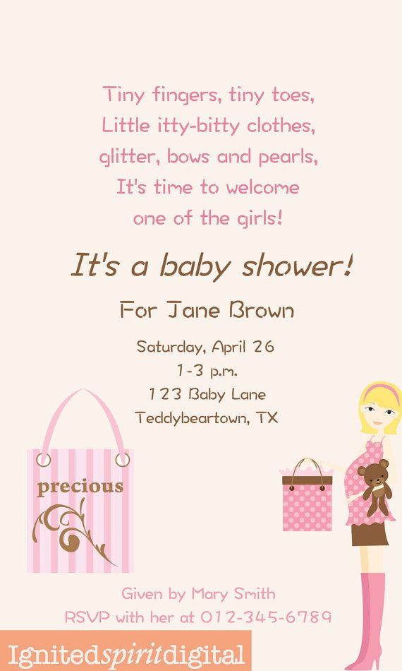 Baby Girl Rhyme Poem Baby Shower By IgnitedSpiritDigital On Etsy, $4.00