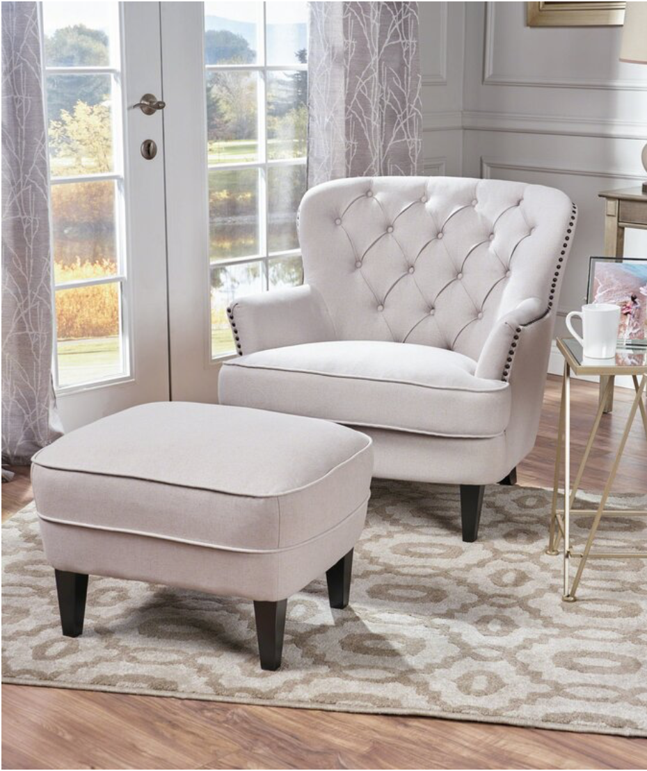 Heywood 24 Armchair And Ottoman In 2020 Bedroom With Sitting Area Master Bedroom Sitting Area Small Sitting Rooms