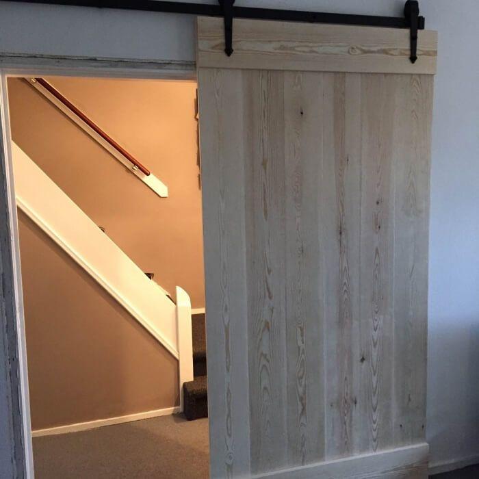 Grenen schuifdeur - loftdeur - op maat gemaakt met klassiek ...