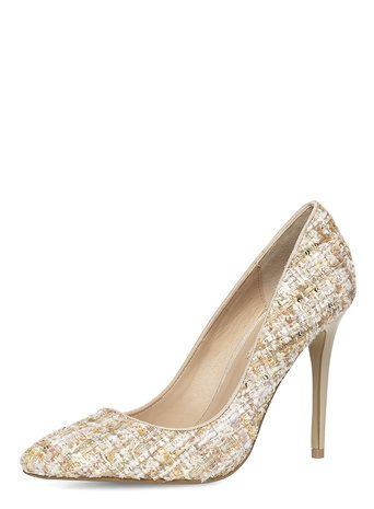 4d6ac90a89a Nude tweed high pointed court shoes | Fashion | Court shoes, Shoes y ...