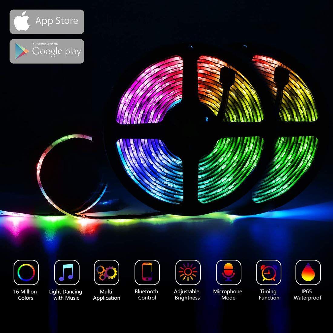 LED Strip Lights,WiFi 32.8ft 300LEDs Waterproof Color