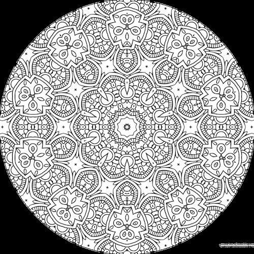 Dessin mandala a colorier numero 080 mandala coloriage adulte via dessin - Mandala adulte ...