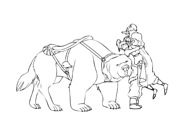 Avatar The Legend Of Korra With Friends Coloring Pages | Anime ...