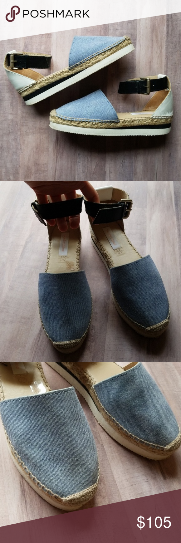 5b059ca64ea See By Chloe Leather & Denim Platform Espadrilles These are in very ...