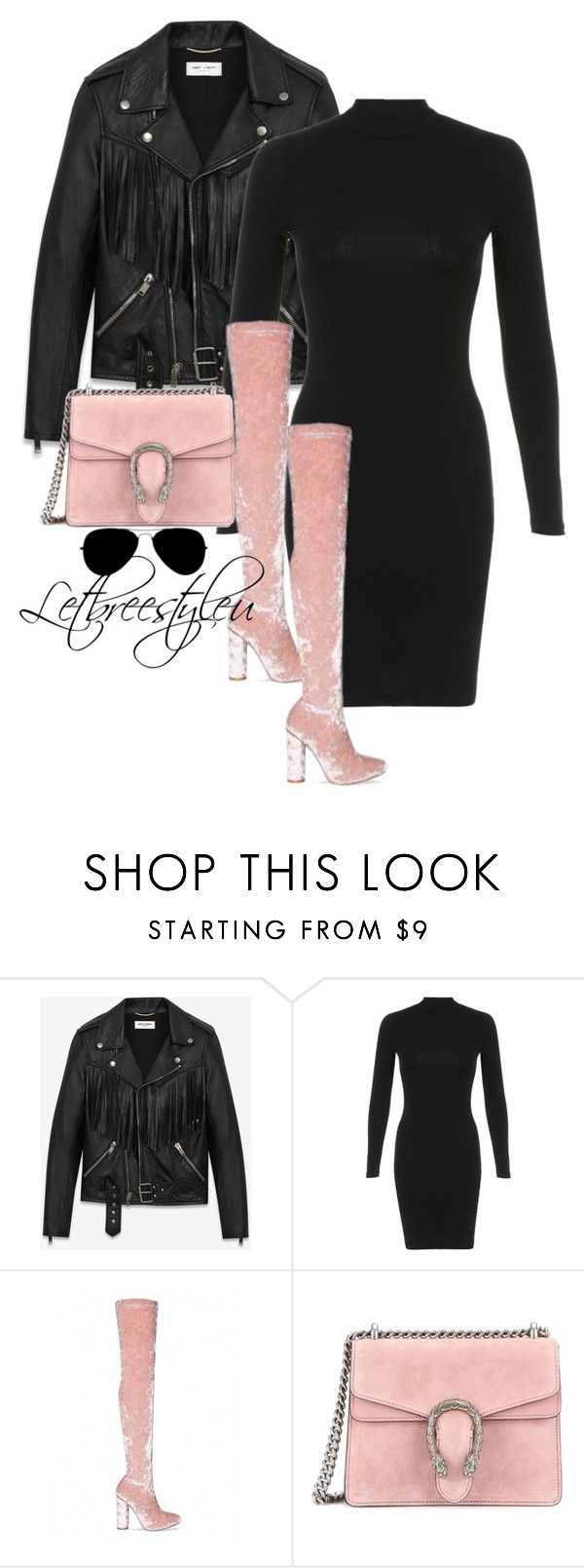 """💅🏾✨"" by breonica ❤ liked on Polyvore featuring Yves Saint Laurent, Miss Selfridge and Gucci"