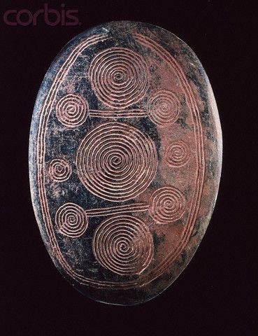 Aboriginal churinga, discoid stone that represents the immortal spirit of men, 1900-2000