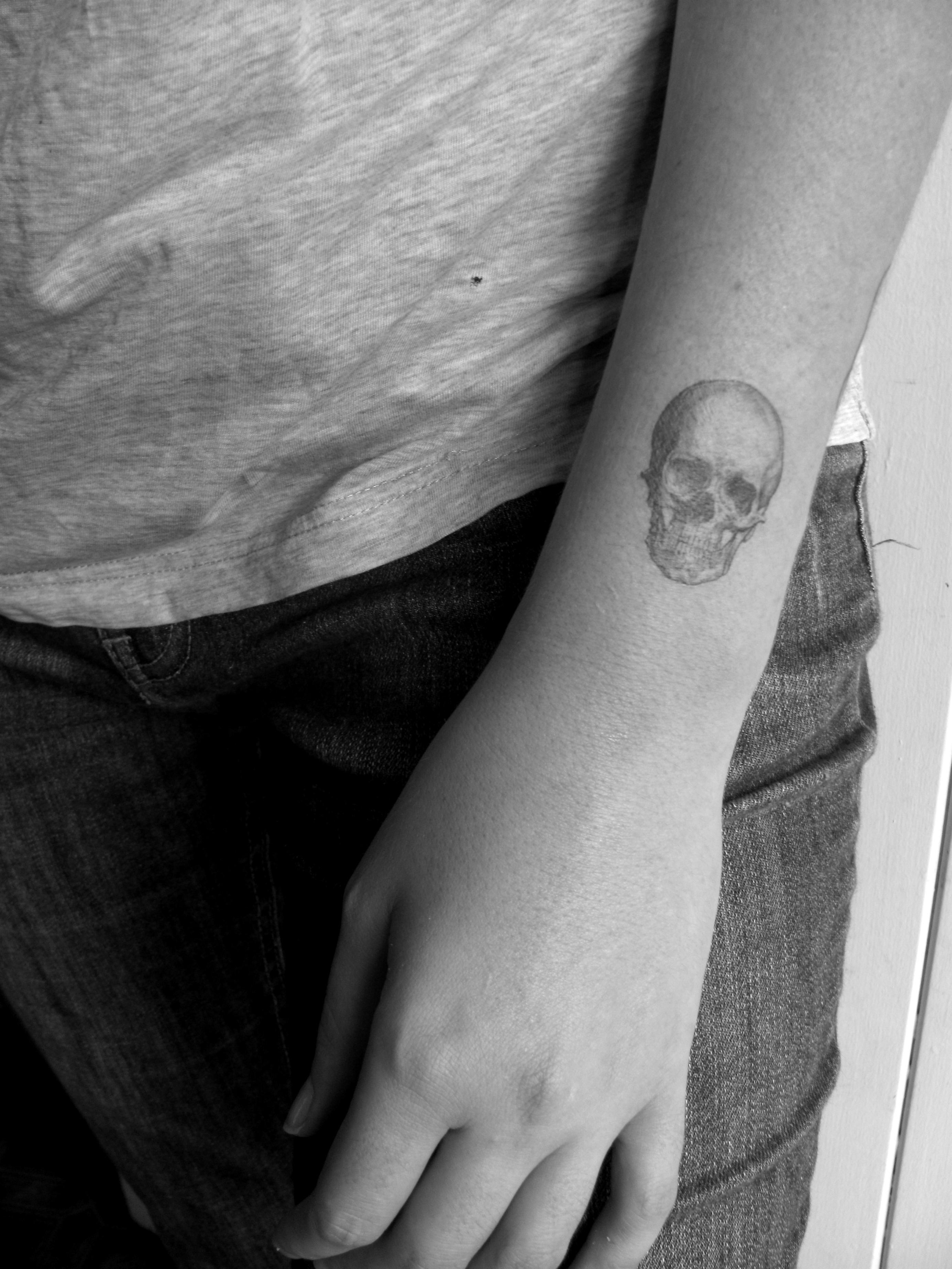 Vintage skull temporary tattoo by pepperink on etsy tattoo ideas