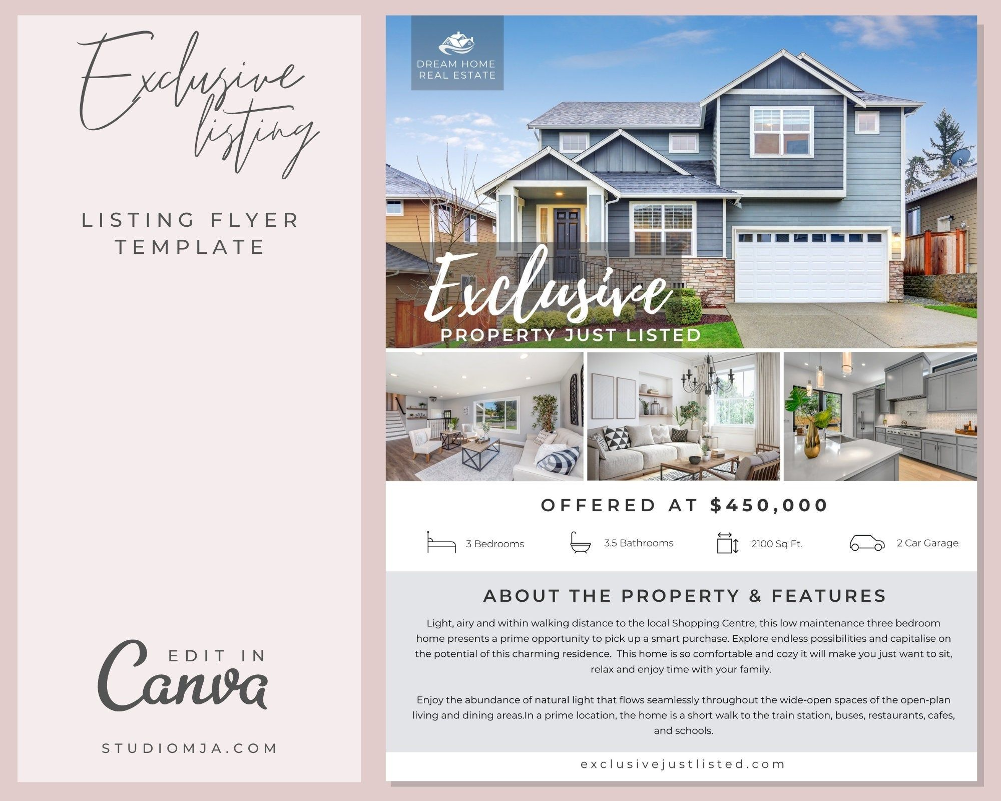 Pin On Real Estate Canva Templates