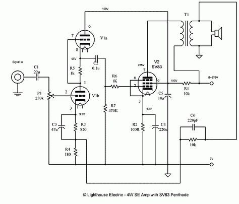 4 watt single ended vacuum tube amplifier dc circuit, circuit diagram,  subaru legacy,