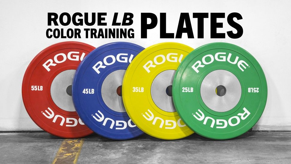 Rogue full color competition bumpers lbs green