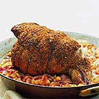 Moroccan Spice Crusted Leg of Lamb
