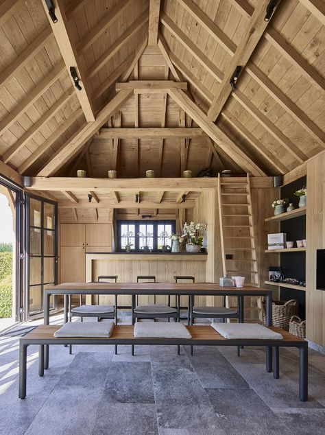 Poolhouse in eik VG | Bogarden | interieur | Pinterest | Casas de ...