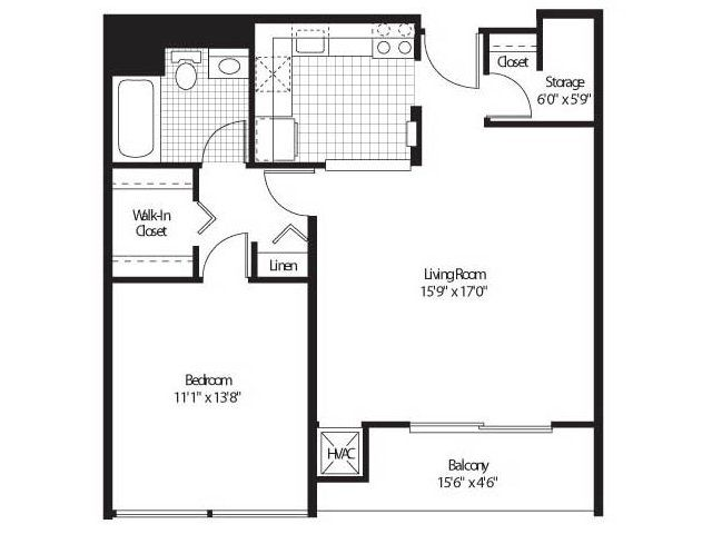 1 For The 1 Bedroom 1 Bath Floor Plan Of Property Detroit City Apartments Luxury Apartment Living With Modern Resort Floor Plans City Apartment Detroit City