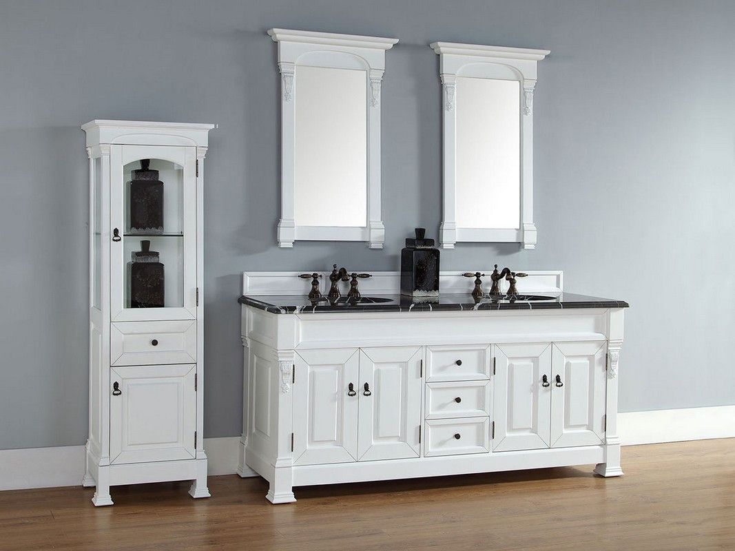 2018 Bathroom Vanity with Matching Linen Cabinet - Best Paint for ...