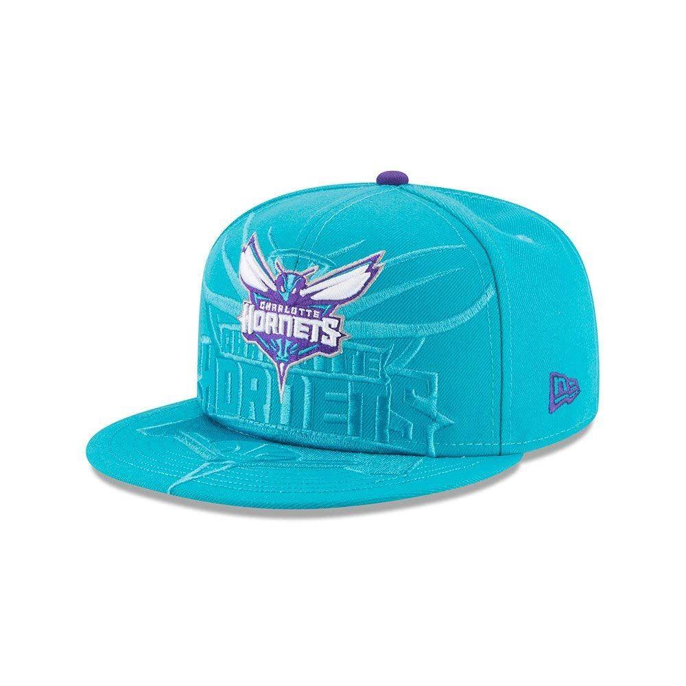3c425e79f4d New Era Charlotte Hornets Teal Logo Spill 9FIFTY Snapback Hat ...