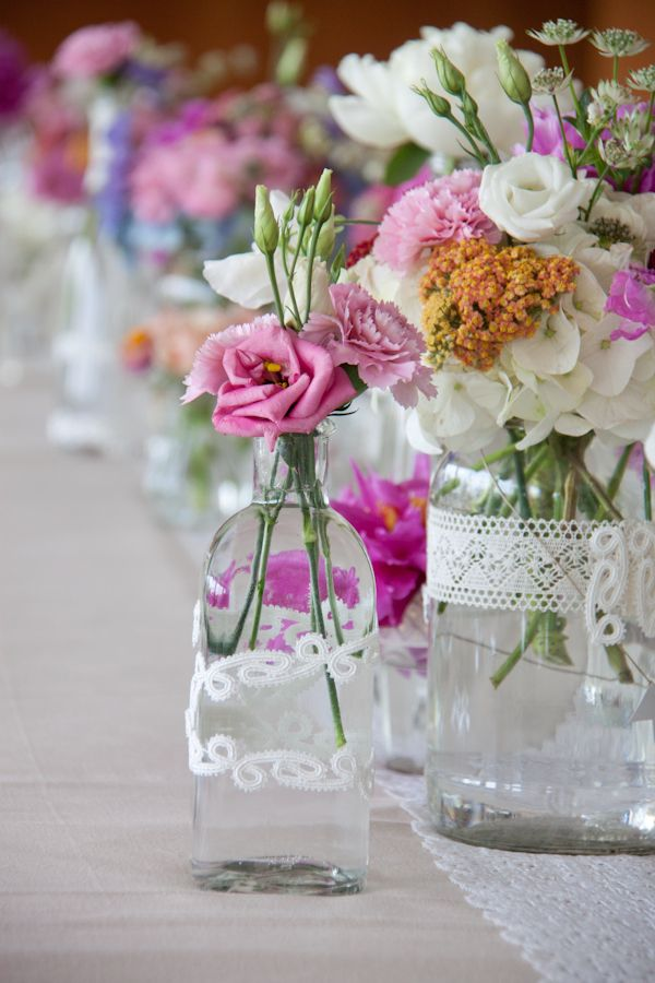 Centros de mesa con personalidad Flores en tazas Animadas - arreglos de mesa