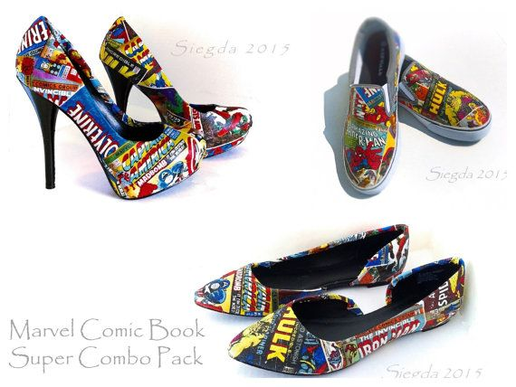 23b98b07c5d330 Captain America · Marvel Comic Book-Mens Slip Ons-Womens heels and flats- Hulk-Xmen