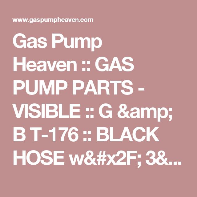 Gas Pump Heaven :: GAS PUMP PARTS - VISIBLE :: G & B T-176