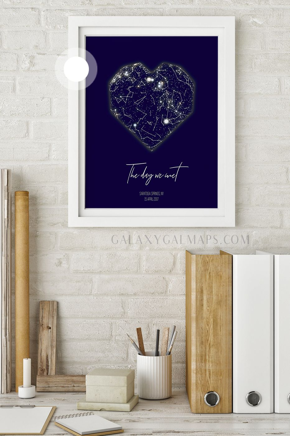Personal star map by date and location night sky wall art best