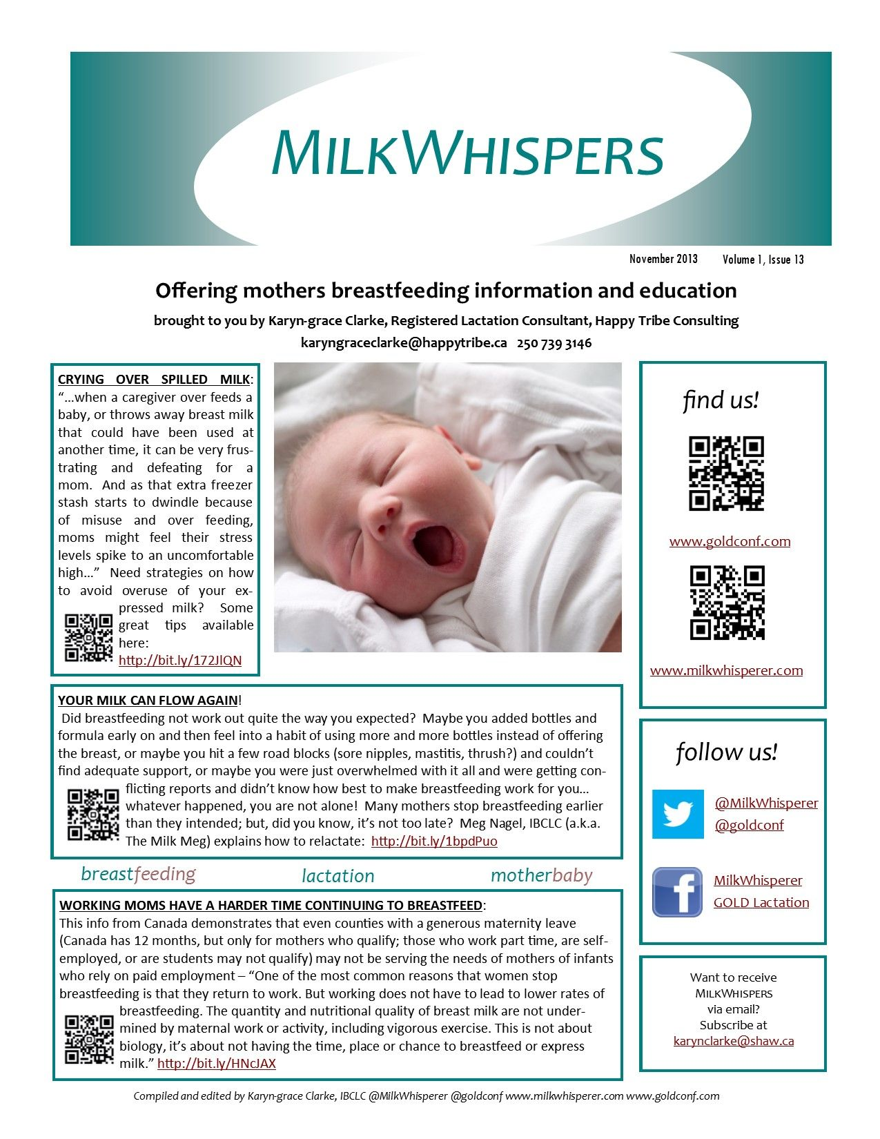 Are You A Nursing Mother Check Out November S Issue Of