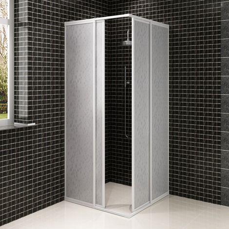 Shower Cabin Enclosure Pp Board Aluminium Frame Rectangular 80 X