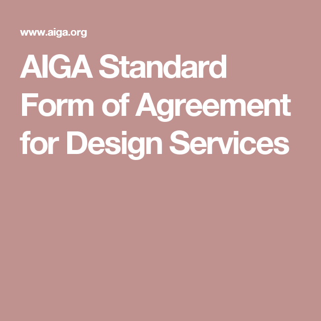 Aiga Standard Form Of Agreement For Design Services Books Worth