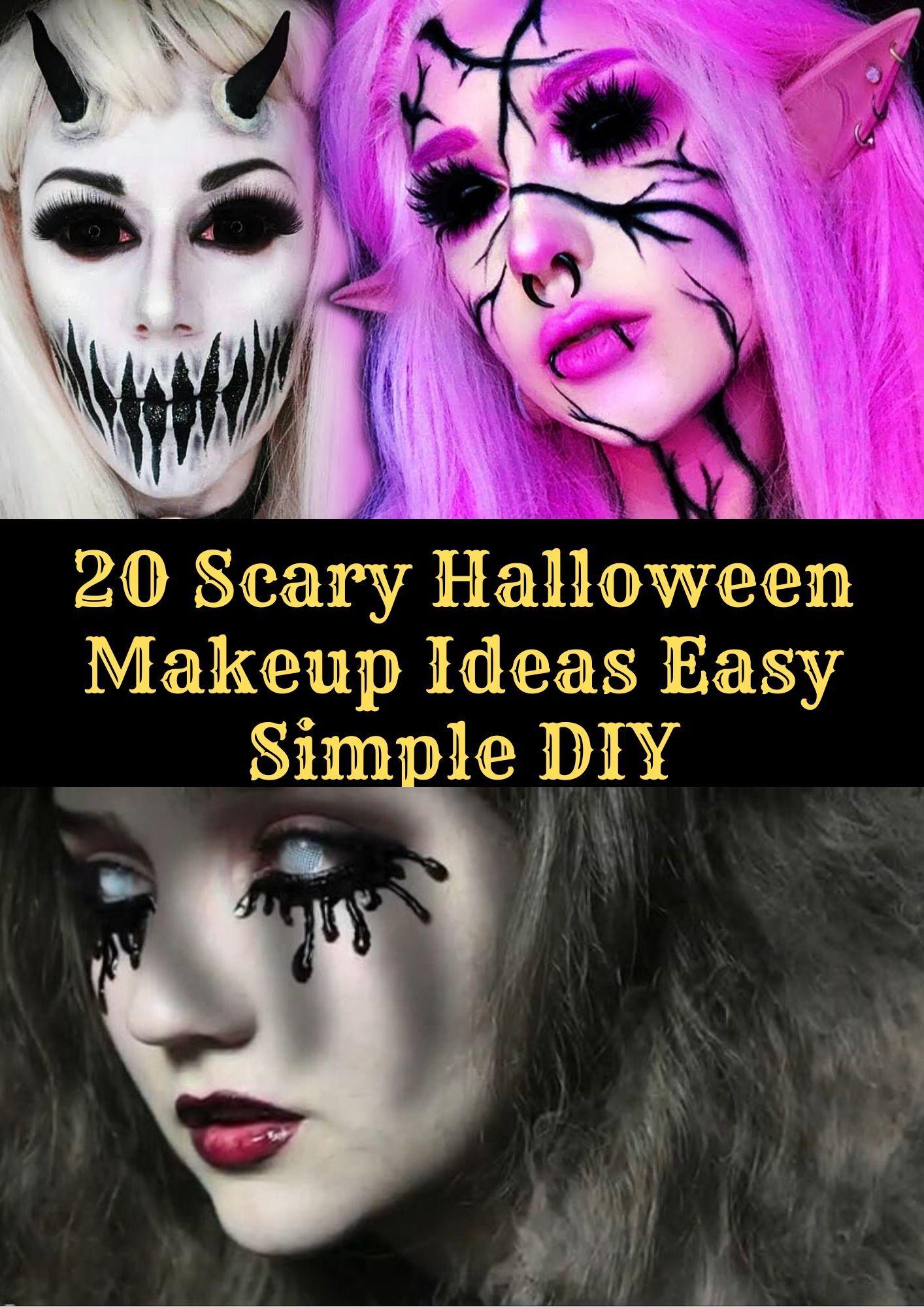 27 Scary Halloween Makeup Ideas Easy Simple DIY in 2727