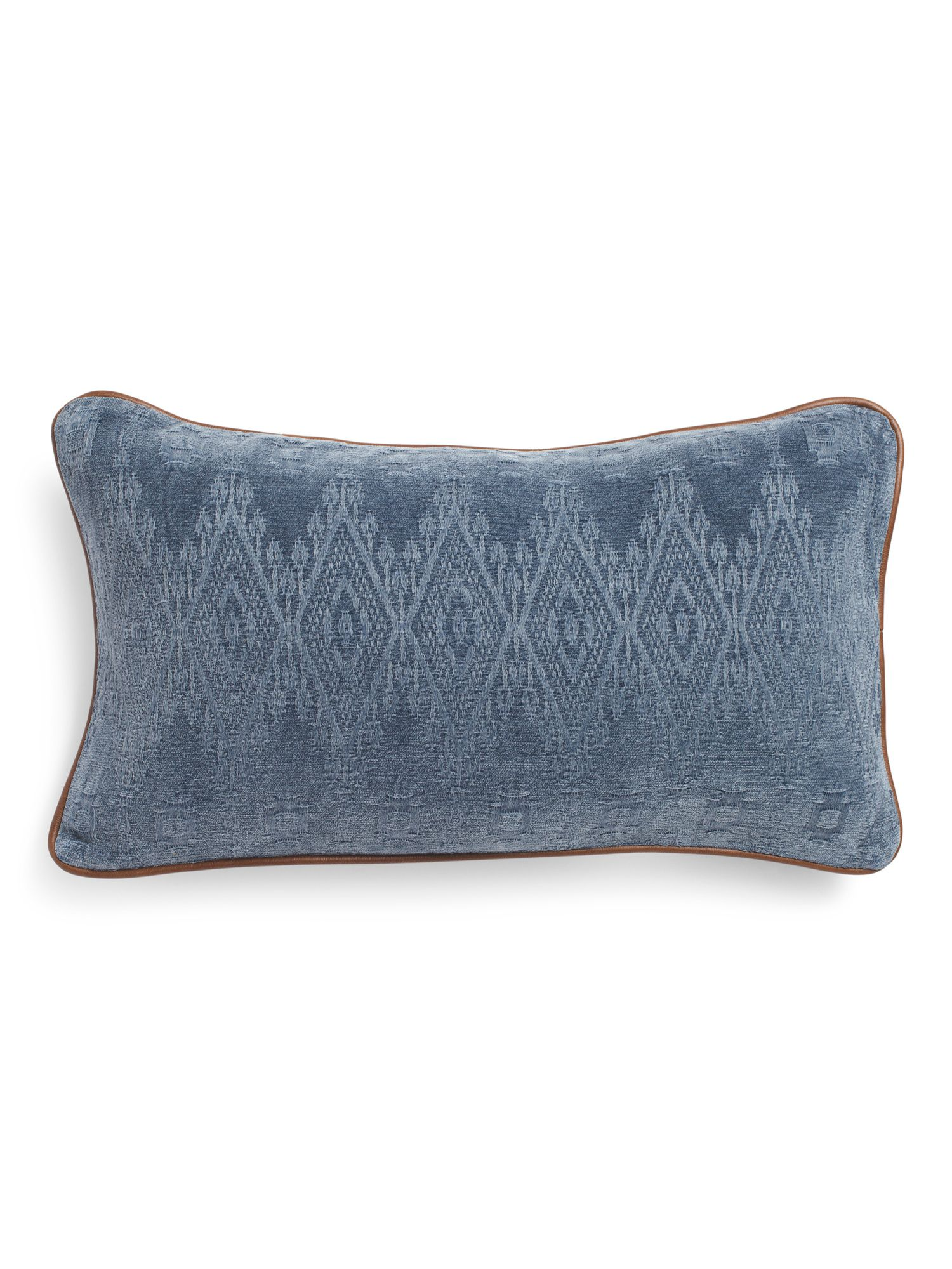 Leather 14x26 Throw Pillow by