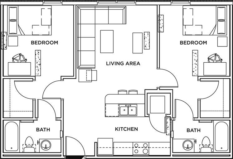 Floor Plans The Callaway House Austin Student Apartments In Austin Tx