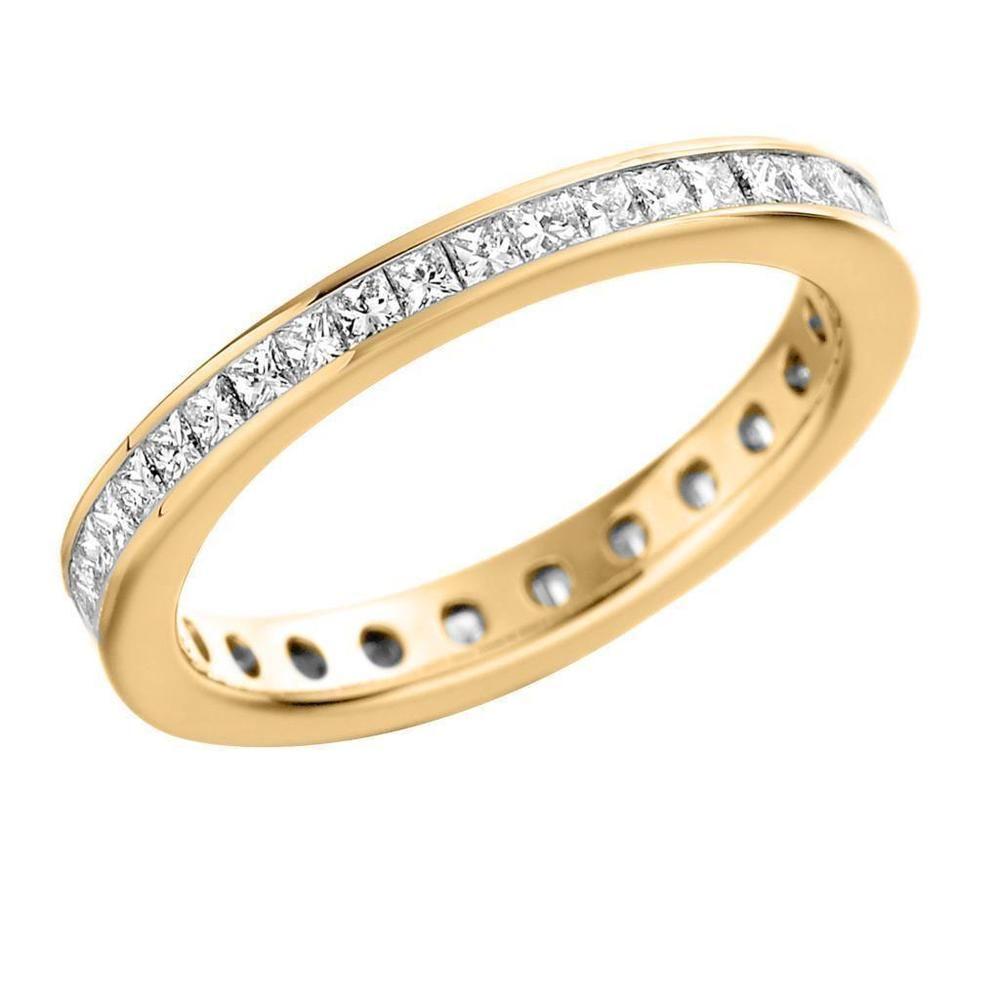 IGI Certificate 0.35Ct Princess Diamond Eternity Wedding