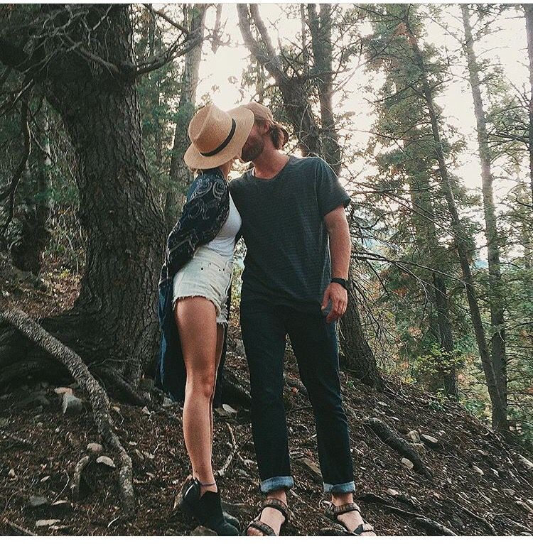 exploring woods with him
