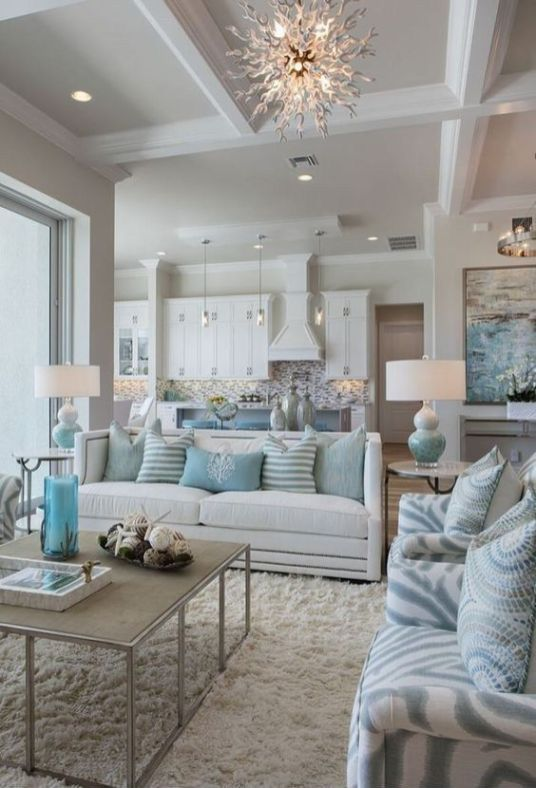 38 Ideas For Living Room: Gorgeous Coastal Living Room Decorating Ideas 38
