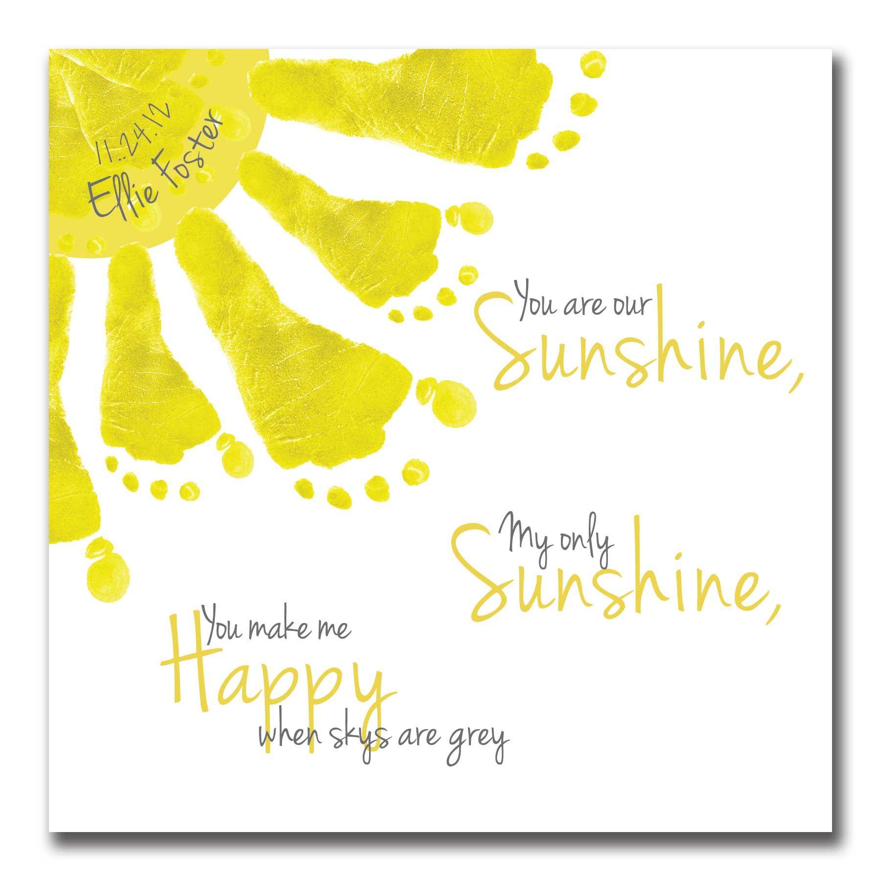 Birthday Invite - Little Sunshine | Footprint art, Footprints and ...
