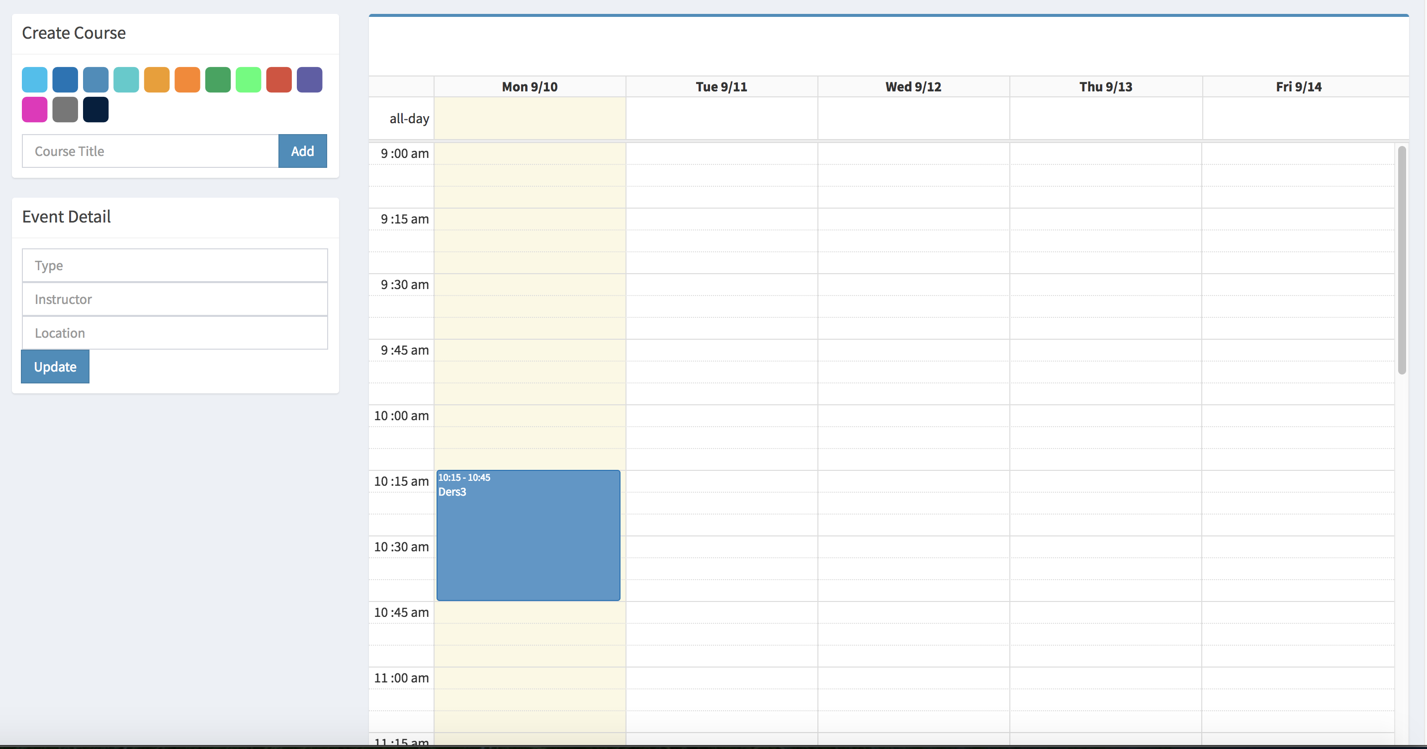 college schedule maker is an online schedule builder  weekly planner and simple calendar for