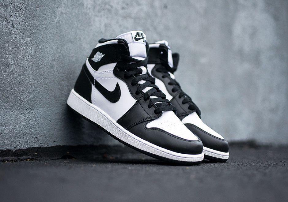 Air Jordan 1 Retro High Og Gs Black White Sneakernews Com