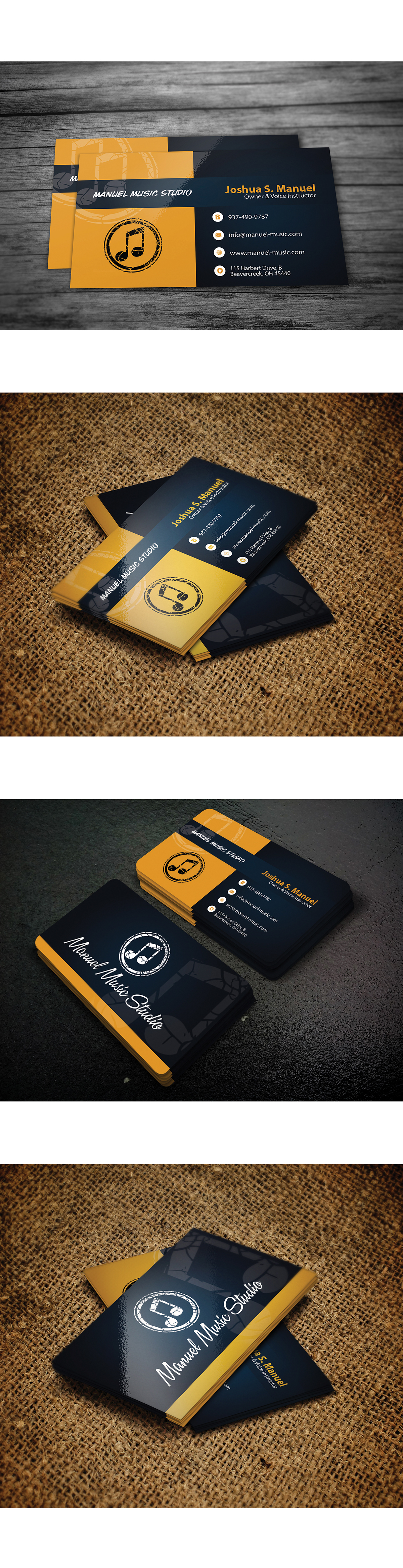 free music business card psd on behance college