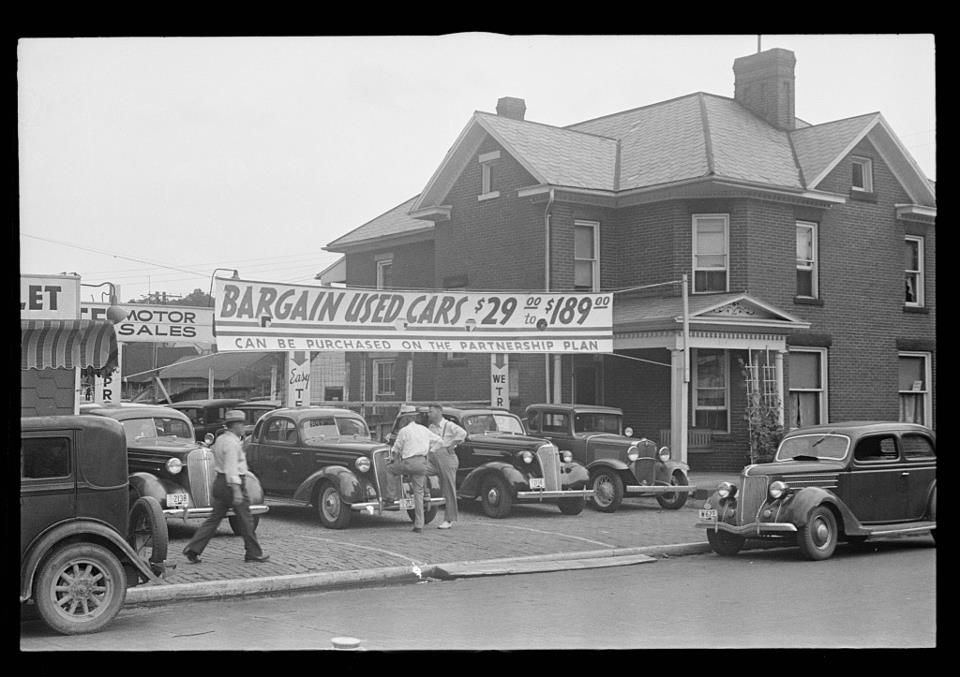 A used car lot in lancaster in 1938 that house on the