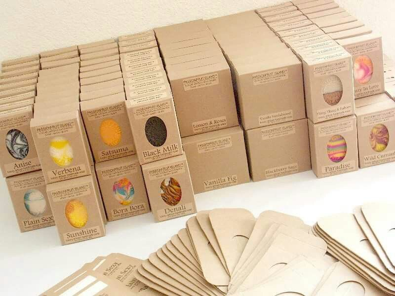 Nice & simple packaging from Passionfruit Island                                                                                                                                                                                 More #soappackaging