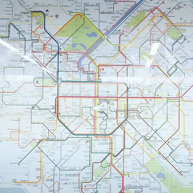This way? #brugge #Brüssel #brussels #map #train #metro ...