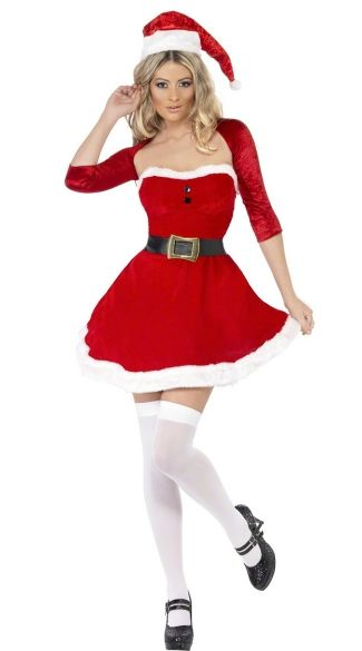 Claus White Fabric Wig Mrs Christmas Accessory