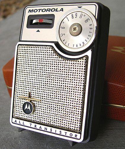 Motorola Transistor Radio, 1960's... kinda looks like mine but I don't remember the logo