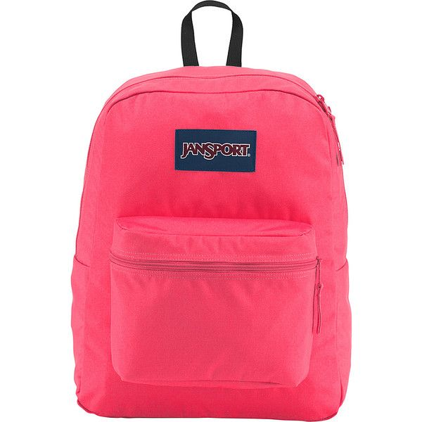 JanSport Exposed Backpack - Neon Pink - School Backpacks (47 CAD) ❤ liked on 616fd0593fb20