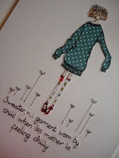 Lots of inspiration from supercutetilly's lovely free motion embroidery examples ...