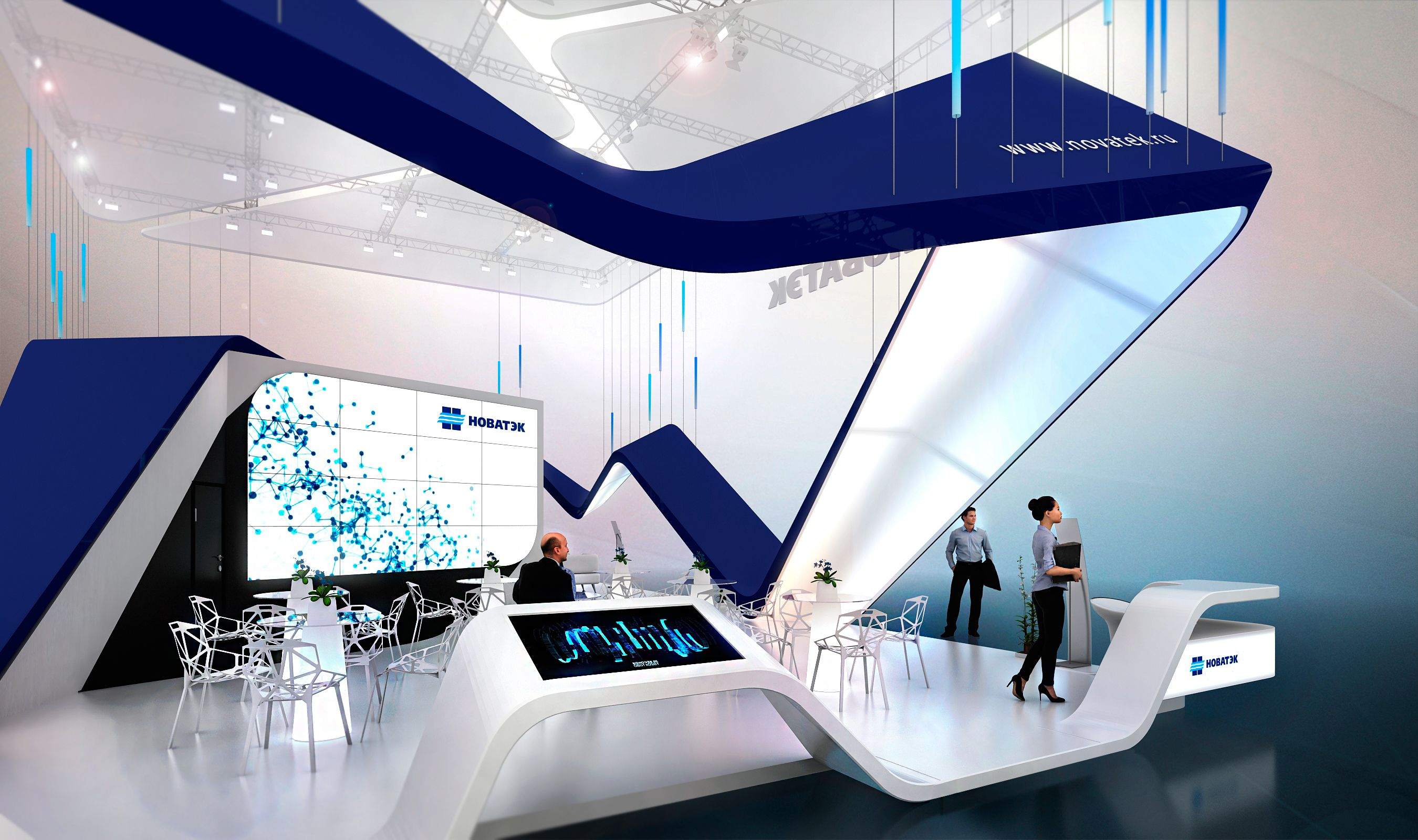 Expo Stands Economic : Exhibition stand project for the oao novatek at st