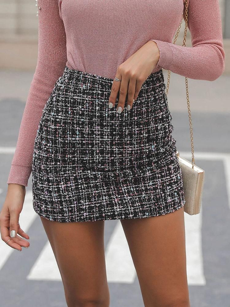 8fed1ea6e50ae5 High Waist Mini Tweed Skirt (S/M/L/XL) $26.99 | Clothes to Buy ...