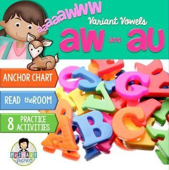 Vowels: aw, au ~Phonics~ Activity Pack