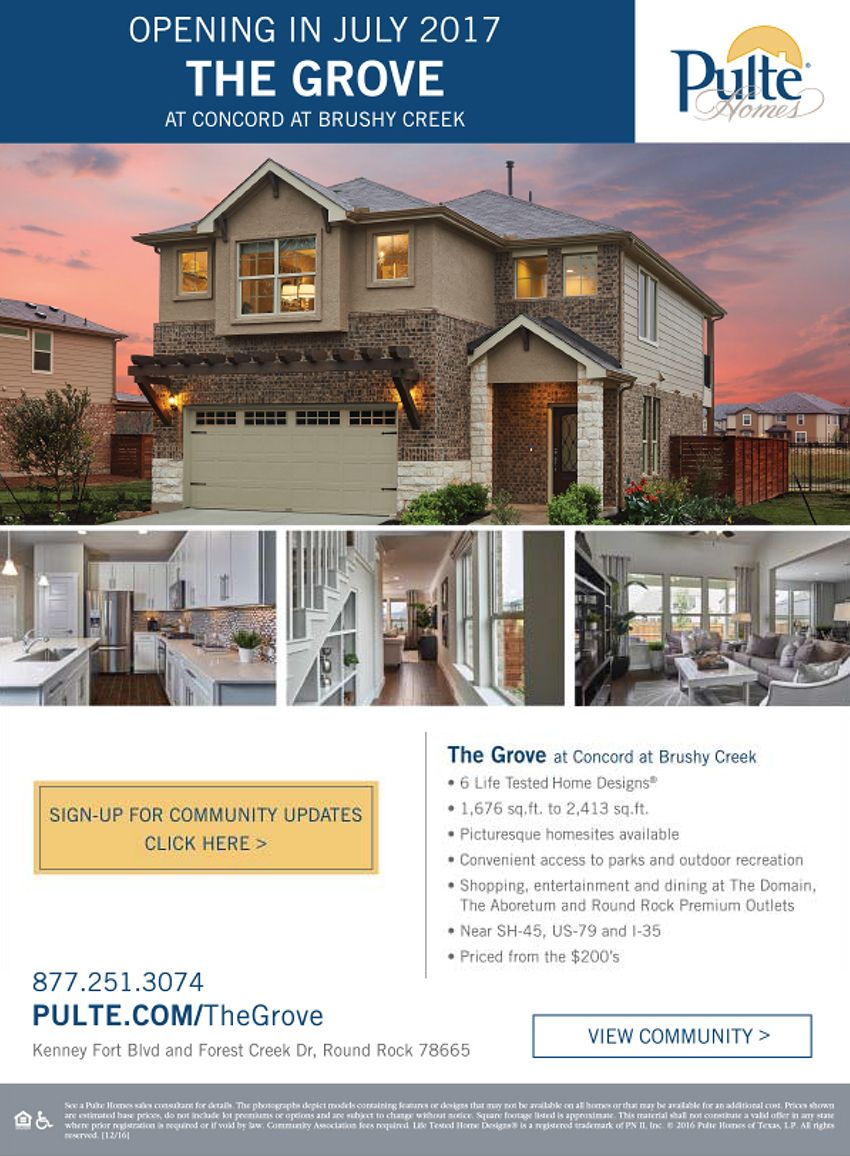 New Homes for Sale in Round Rock, Texas New Community - Sign Up to
