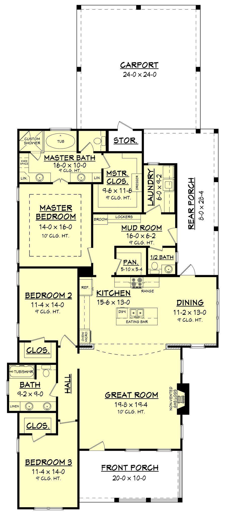 Cottonwood Lane House Plan Barndominium floor plans, How