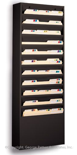 11 Tiered Wall File Holder Fits Letter Sizes Steel